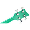 Eastwood Guitars Airline Map Bass Seafoam Green Left Hand Head Back