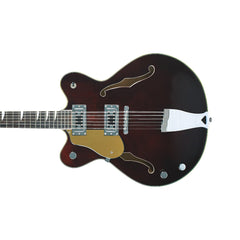 Eastwood Guitars Classic 12 Lefty - Walnut - Left Handed 12-string Semi Hollowbody Electric Guitar - NEW!