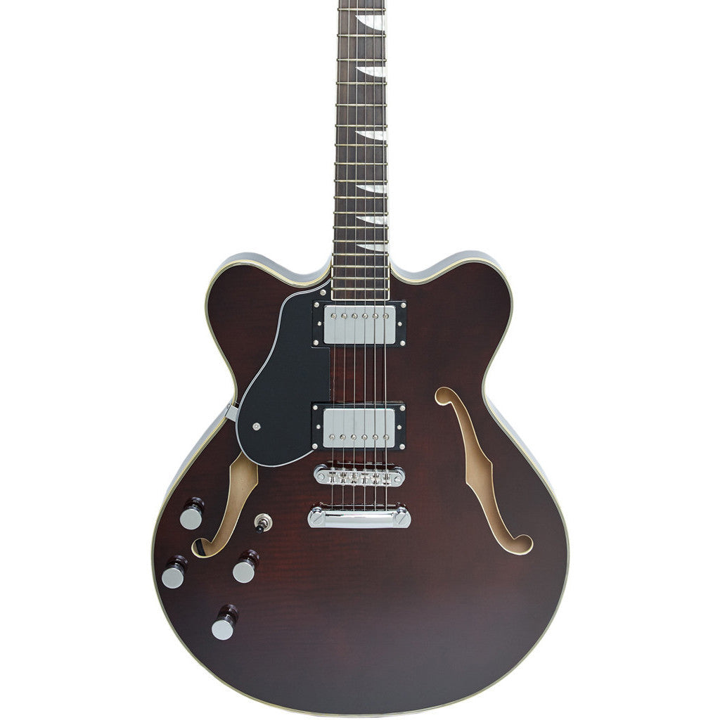 Eastwood Guitars Classic 6 HB LEFTY - Walnut - Left-Handed Semi Hollow Body Electric Guitar - NEW!