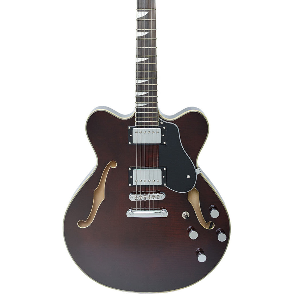 Eastwood Guitars Classic 6 HB - Semi Hollow Body Electric Guitar - Walnut - NEW!