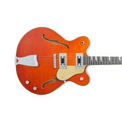 Eastwood Guitars Classic 6 - Orange - Semi Hollow Body Electric Guitar - NEW!