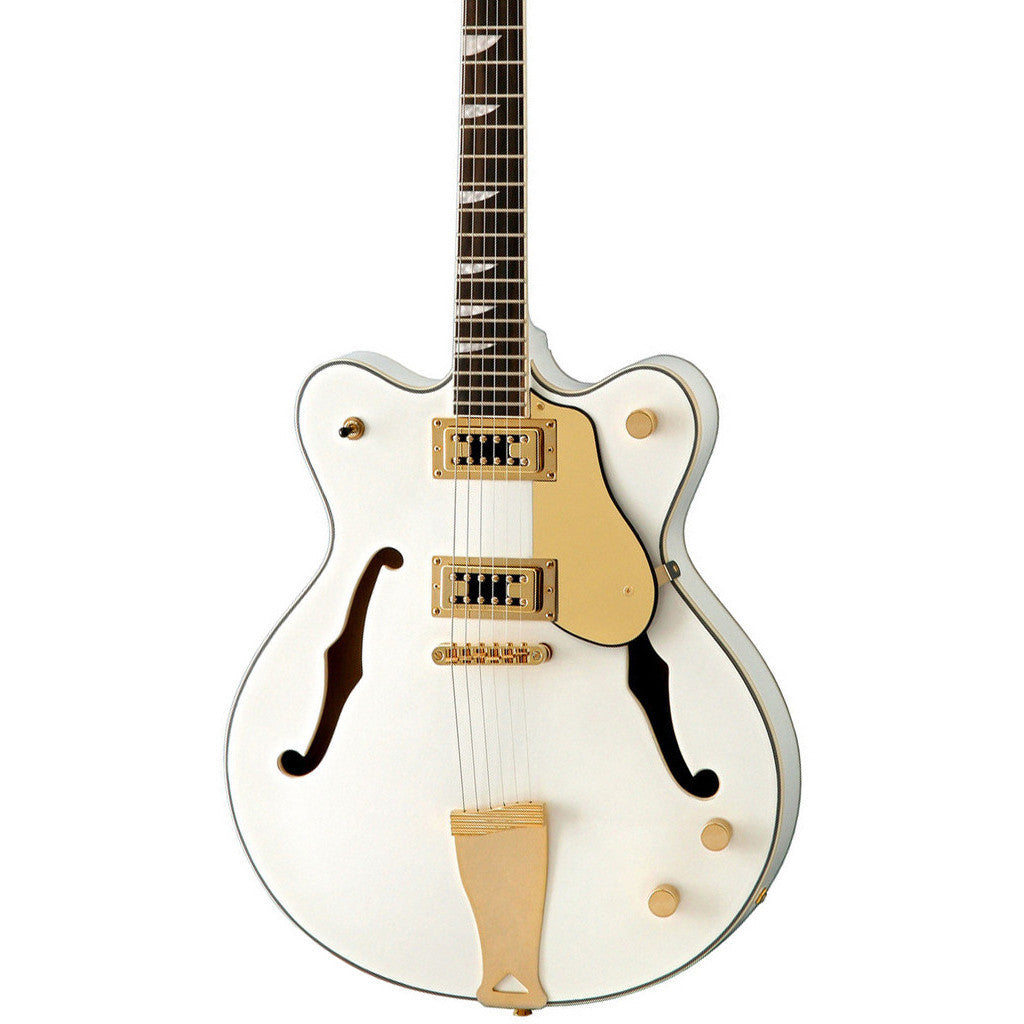 Eastwood Guitars Classic 6 - Semi Hollow Body Electric Guitar - White - NEW!