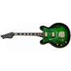 Eastwood Guitars Custom Kraft DLX Greenburst Left Hand Angled