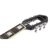 Eastwood Guitars Deerhoof EEG Black on Black Headstock