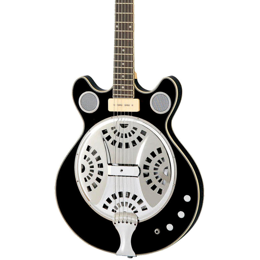 Eastwood Guitars Delta 6 Baritone - Black - Electric / Acoustic Resonator Guitar - NEW!