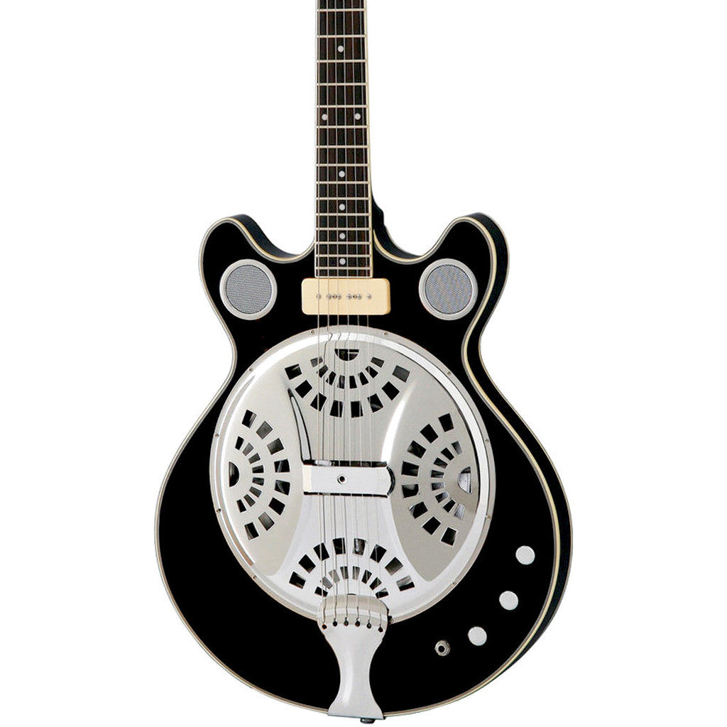 Eastwood Guitars Delta 6 - Black - Electric Resonator Guitar - Vintage Mosrite Californian Tribute - NEW!