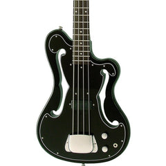 "Eastwood Guitars EEB-1 Electric Bass Guitar - Ampeg AEB ""Scroll Bass"" inspired Tribute Model - Black - NEW!"