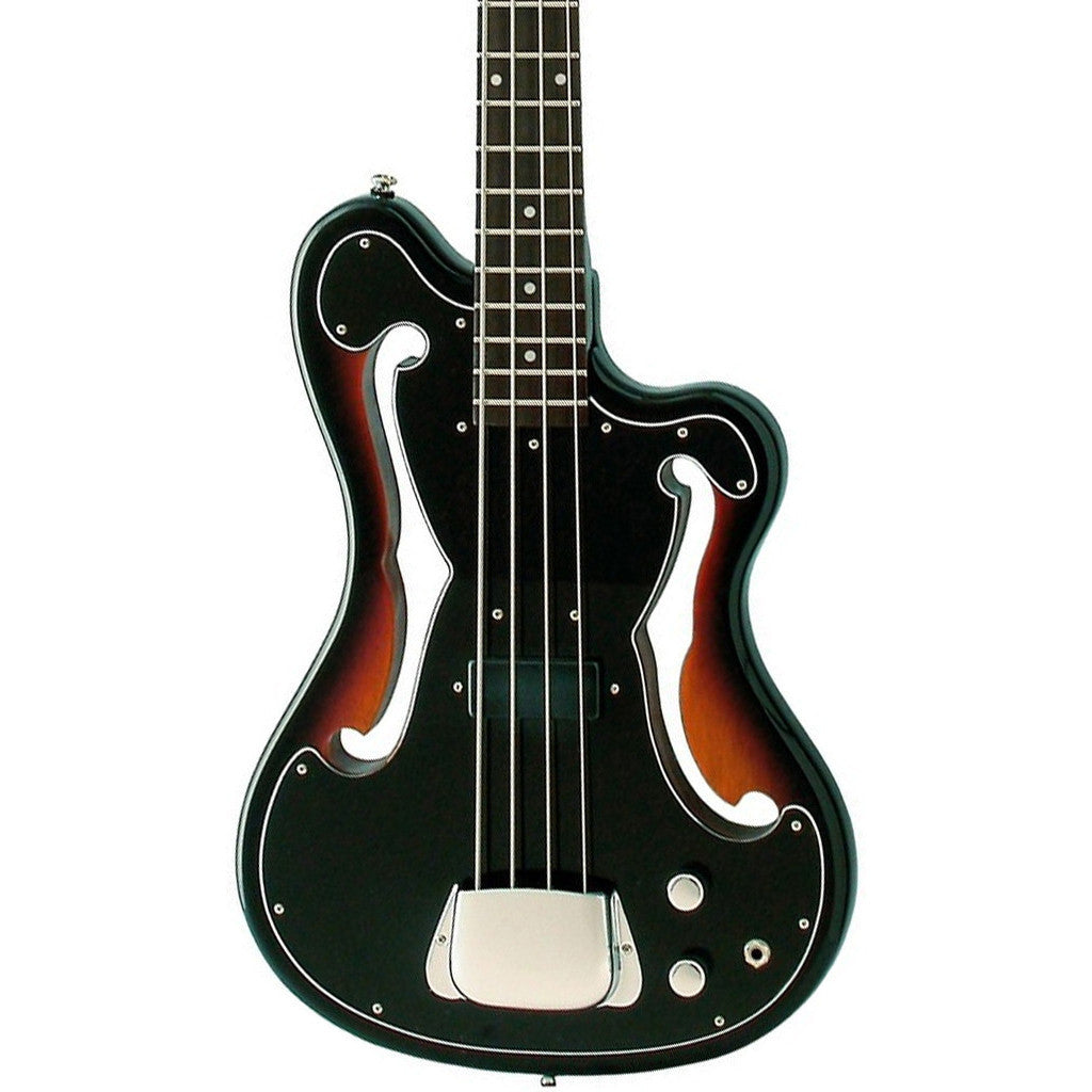 "Eastwood Guitars EEB-1 Electric Bass Guitar - Sunburst - Ampeg AEB ""Scroll Bass"" inspired Tribute Model - NEW!"