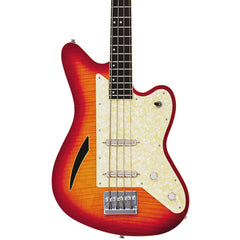 Eastwood Guitars Surfcaster Bass - Cherryburst - Offset Electric Bass Guitar - NEW!