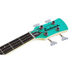 Eastwood Guitars Surfcaster Bass Seafoam Green Headstock