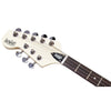 Eastwood Guitars Warren Ellis Mandocello Vintage Cream Left Hand Headstock