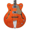 Eastwood Guitars Classic 4 Bass - Orange - Short Scale Semi-Hollow Body - NEW!