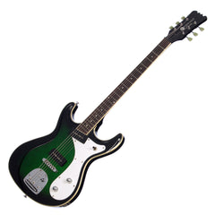 Eastwood Guitars Sidejack Baritone DLX - Greenburst - Deluxe Mosrite-inspired Offset Electric Guitar - NEW!