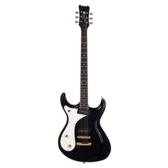 Eastwood Guitars Sidejack Baritone Lefty - Left Handed Mosrite-inspired Offset Electric Guitar - Black - NEW!
