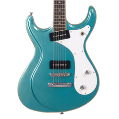 Eastwood Guitars Sidejack Baritone - Metallic Blue - Mosrite-inspired Offset Electric Guitar - NEW!
