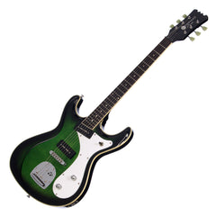 Eastwood Guitars Sidejack DLX - Greenburst - Deluxe Mosrite-inspired Offset Electric Guitar - NEW!
