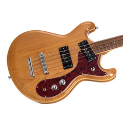 Eastwood Guitars Sidejack Pro JM Bass - Natural - Vintage Mosrite Joe Maphis -inspired Tribute Model - Offset / Short Scale  - NEW!