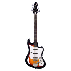 Eastwood Guitars TB-64 - Sunburst - MRG Series Teisco-inspired Short Scale 6-string Electric Bass - NEW!