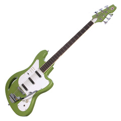 Eastwood Guitars TB-64 - Vintage Mint Green - MRG Series Teisco-inspired Short Scale 6-string Electric Bass - NEW!