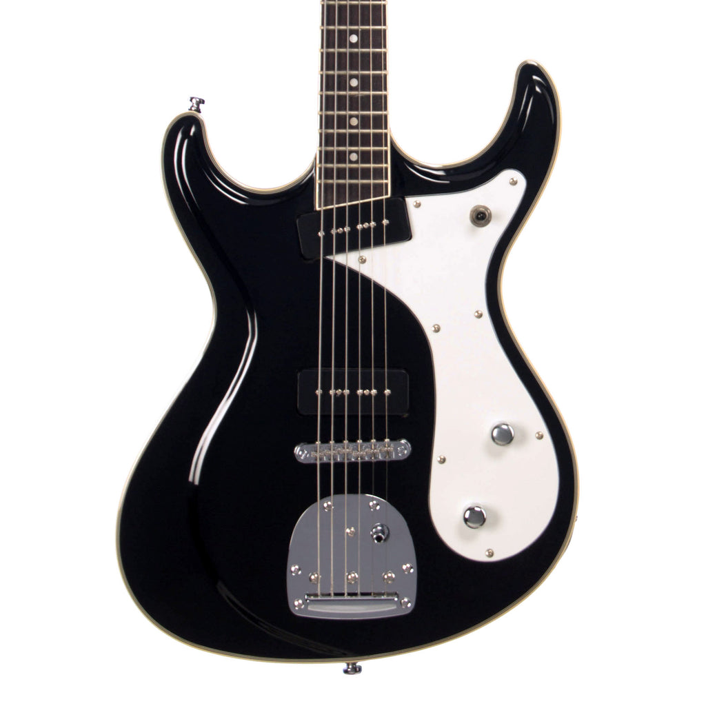Eastwood Guitars Sidejack Baritone DLX - Black and Chrome - Deluxe Mosrite-inspired Offset Electric Guitar - NEW!