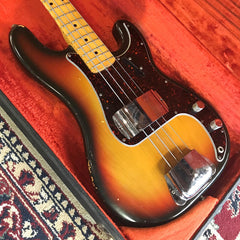 Fender 1973 P-Bass - Vintage Precision Bass - Used Electric Bass Guitar - Sunburst - NICE!!!