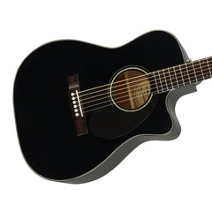 Fender CC-60SCE Black - Solid Top, Concert Cutaway, Acoustic / Electric Guitar - 0961710006 - NEW!