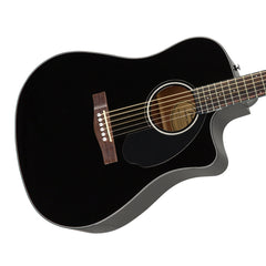 Fender CD-60SCE Black - Solid Top, Dreadnought Cutaway, Acoustic / Electric Guitar - 0961704006 - NEW!