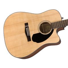 Fender CD-60SCE Natural - Solid Top, Dreadnought Cutaway, Acoustic / Electric Guitar - 0961704021 - NEW!