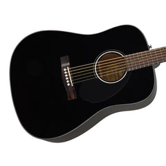 Fender CD-60S Black - Solid Top Dreadnought Acoustic Guitar for Beginners and Students - 0961701006 - NEW!