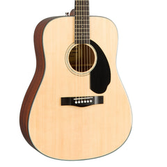 Fender CD-60S Natural - Solid Top Dreadnought Acoustic Guitar for Beginners and Students - 0970110021 - NEW!
