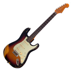 USED Fender Custom Shop 1959 Stratocaster Heavy Relic - Sunburst - 2019 model, 1-off Time Machine Series Electric Guitar