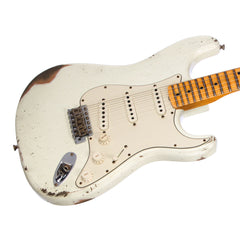 Fender Custom Shop MVP Series 1969 Stratocaster Relic - Olympic White / Maple Cap - Yngwie, Blackmore, Hendrix / Woodstock -style electric guitar - New!