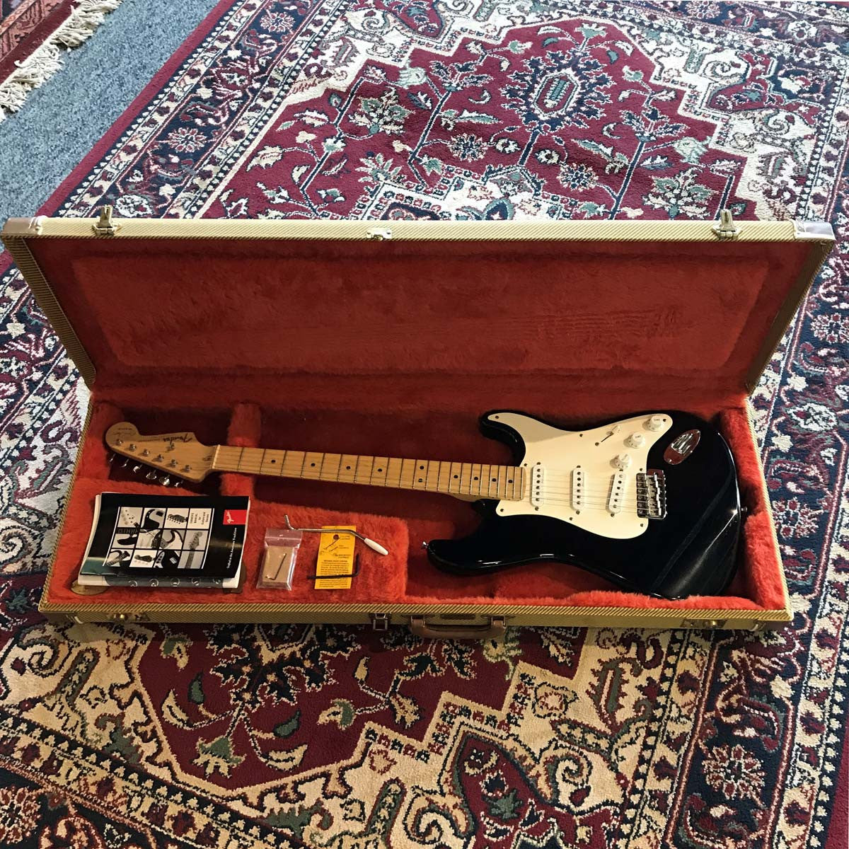 Fender Stratocaster Blackie Eric Clapton Signature Best 2018 Strat Wiring Diagrams Diagram Trusted