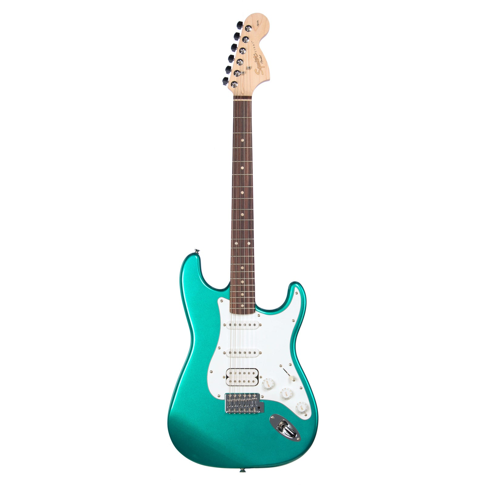 squier affinity series stratocaster hss race green fender make 39 n music. Black Bedroom Furniture Sets. Home Design Ideas