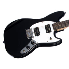 Squier Bullet Mustang HH - Black - Offset Electric Guitar for Kids, Beginners and Travel!
