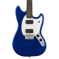 Squier Bullet Mustang HH - Imperial Blue - Offset Electric Guitar for Kids, Beginners and Travel!