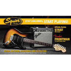 Stop Dreaming, Start Playing! Set: Affinity Series Strat HSS with Fender Frontman 15G Amp