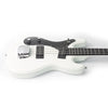 Eastwood Guitars Hi Flyer Bass White LH Player POV
