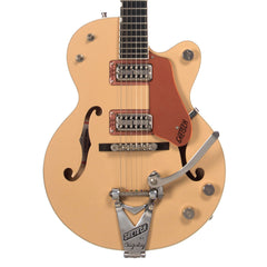 USED Gretsch G6112TCB-JR Center Block Limited Edition, 2-Tone Jaguar Tan / Copper Metallic – Semi-Hollowbody Electric Guitar