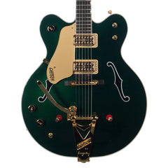 USED Gretsch Guitars G6122-1962LH Chet Atkins Country Gentleman - Left-Handed Electric Guitar - Custom Emerald Eyes Green Metallic
