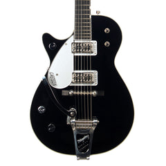 USED Gretsch Guitars G6128TLH Duo Jet with Bigsby - Lefty / Left-Handed Electric Guitar - Black