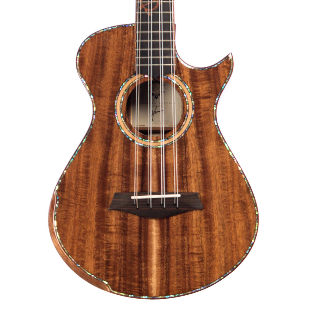 Maestro Guitars Island Series 8-string Tenor Ukulele - Figured Koa - Special Build UT-SR CSB K8 - Custom Boutique Uke - NEW!