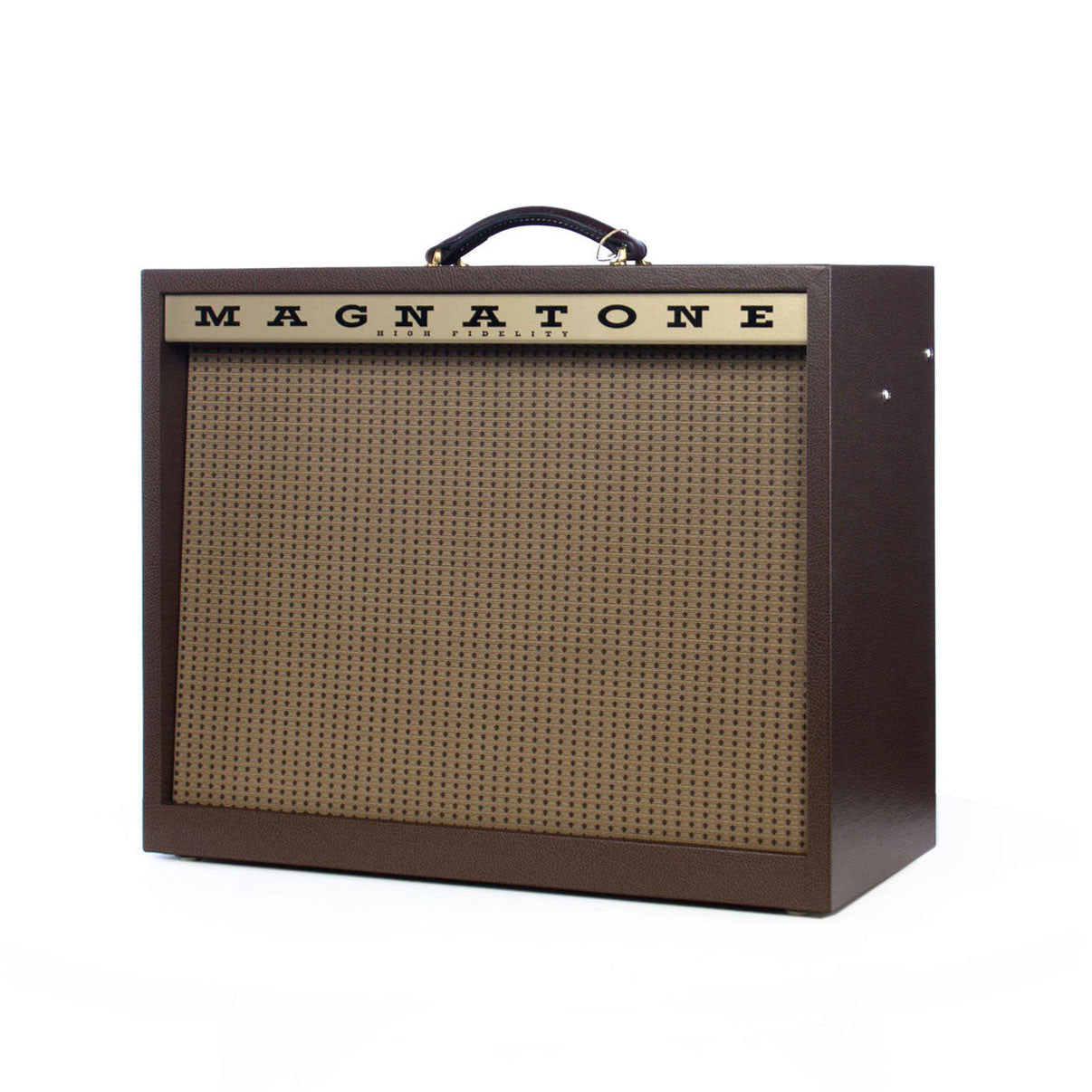 magnatone amps varsity reverb 1x12 combo 15 watt tube guitar amplifier traditional brown cabinet. Black Bedroom Furniture Sets. Home Design Ideas
