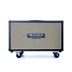 Mesa Boogie Amps 2x12 Rectifier Horizontal guitar speaker cabinet - Black with Custom Cream and Black Jute Grille - NEW!