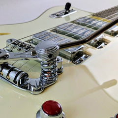 "Eastwood Guitars Bill Nelson Astroluxe Cadet DLX ""D"" - Semi Hollowbody Electric Guitar - Vintage Cream / Ruy Red - NEW!"