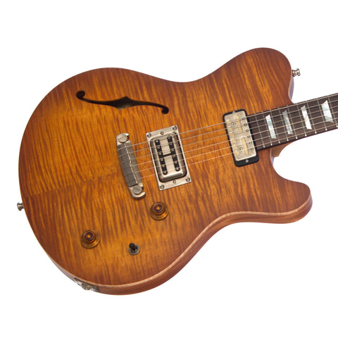 Nik Huber Guitars Surfmeister - Faded Sunburst - Flame Maple Top - Custom Boutique Electric Guitar, NEW!