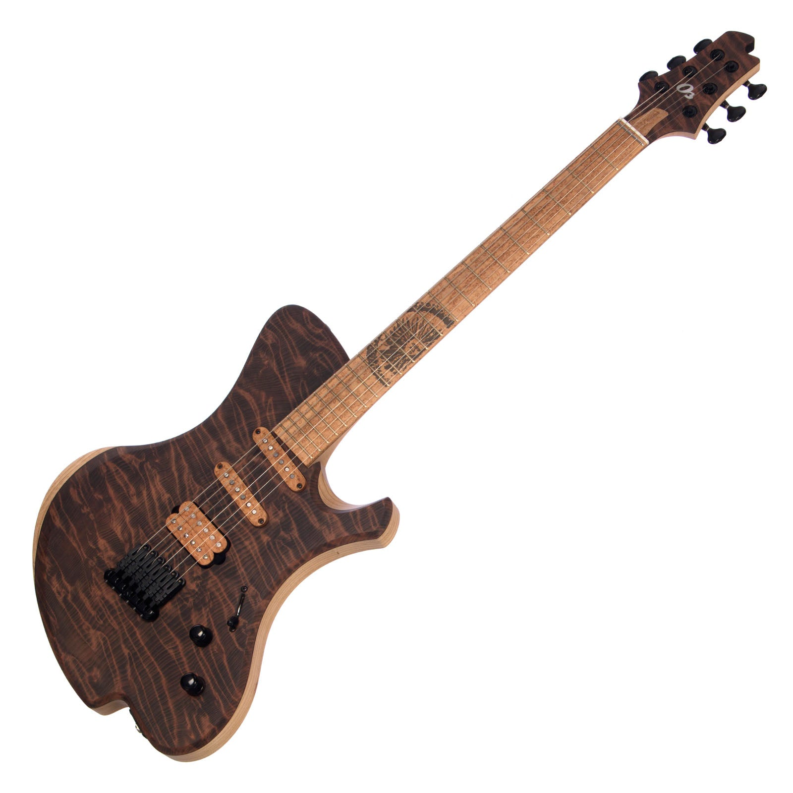 o3 Guitars Xenon - Volcanic Dunes figured Redwood - Hand Made by