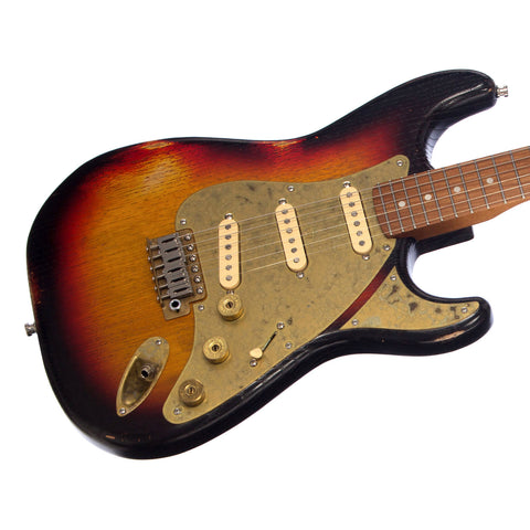 Paoletti Guitars Stratospheric Loft - Distressed 3 Tone Sunburst, Ancient Reclaimed Chestnut Body, Custom Boutique Electric - NEW!