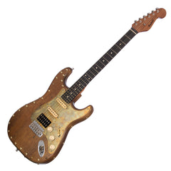 Paoletti Guitars Stratospheric Wine Richie Sambora Signature Model - Ancient Reclaimed Chestnut Body!