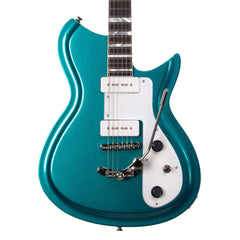 Rivolta Guitars COMBINATA DELUXE TREM - Offset electric guitar from Dennis Fano - Adriatic Blue Metallic